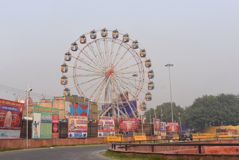 Delhi, Inde : Le 18 octobre 2015 : Carnaval installé à l'occasion du festival indien de dusshera au fort rouge, Delhi, Inde photo stock