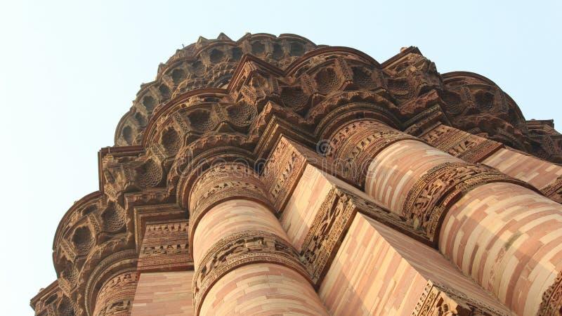 DELHI, INDE - 7 mars 2019, Qutub Minar, un minaret qui fait partie du complexe de Qutab, un site de patrimoine mondial de l'UNESC image libre de droits