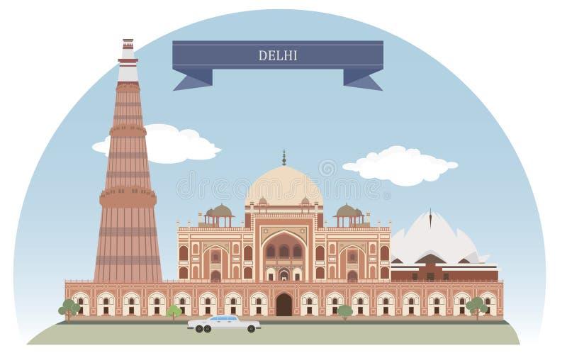 Delhi, India vector illustratie