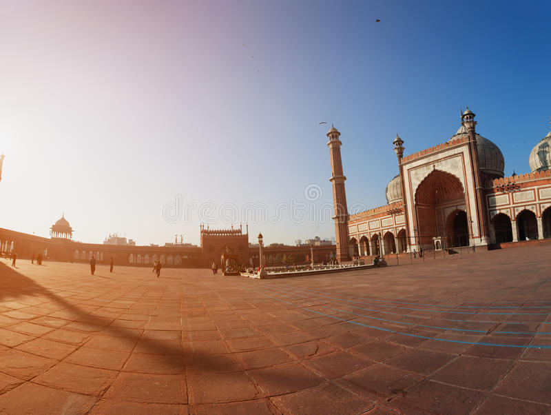 Delhi, India. Jama Masjid mosque royalty free stock images