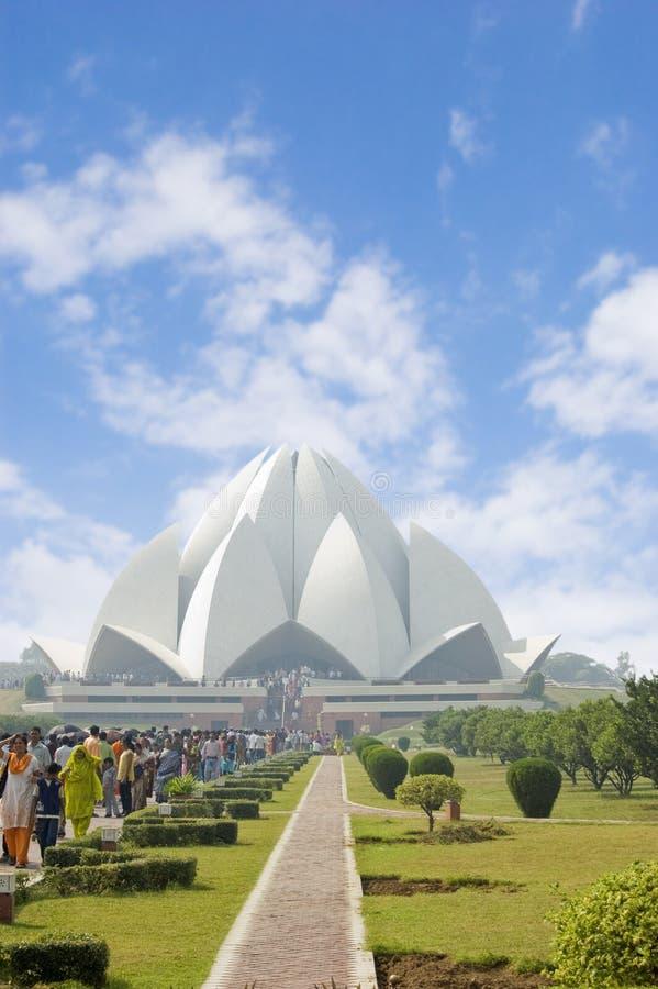 delhi india lotusblommatempel royaltyfria bilder