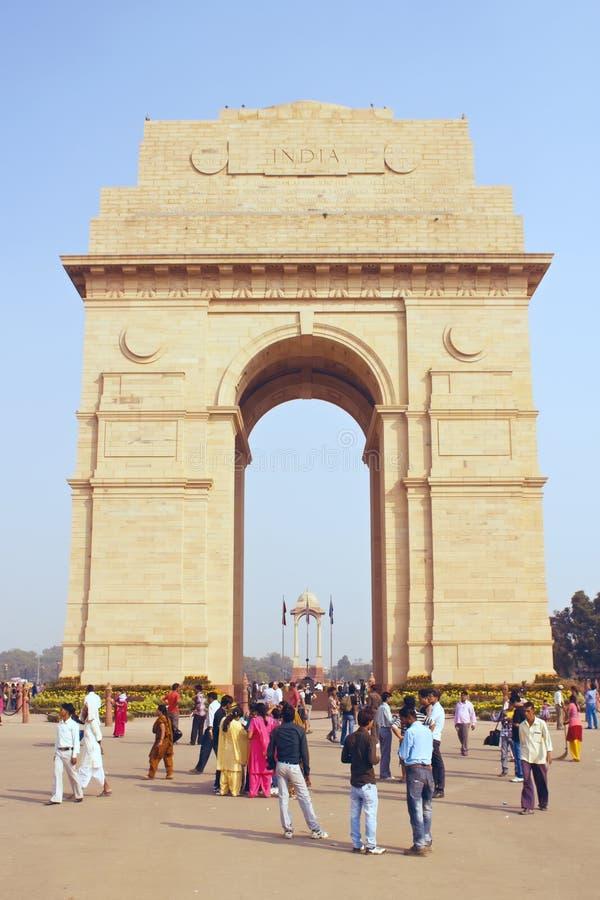 Delhi Indien, november 31, 2011: Port mot arkivfoto