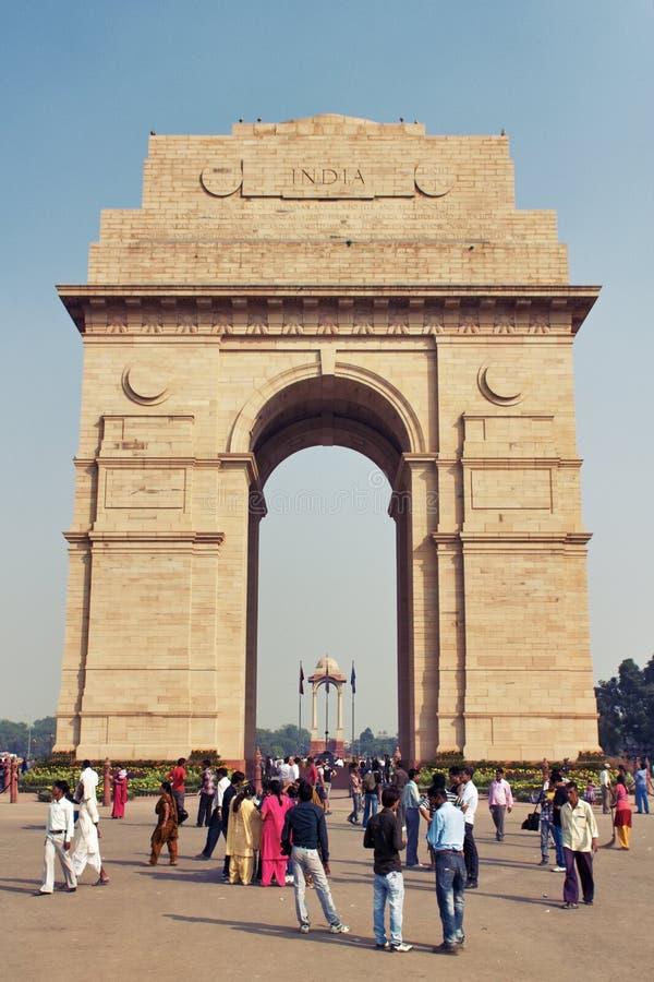Delhi Indien - Oktober 31, 2011: Sikt av royaltyfri bild