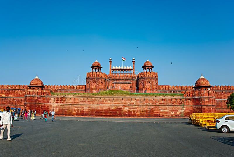 DELHI, INDIEN - 18. September 2013: Das rote Fort an Sept. 18, 2013 lizenzfreie stockbilder