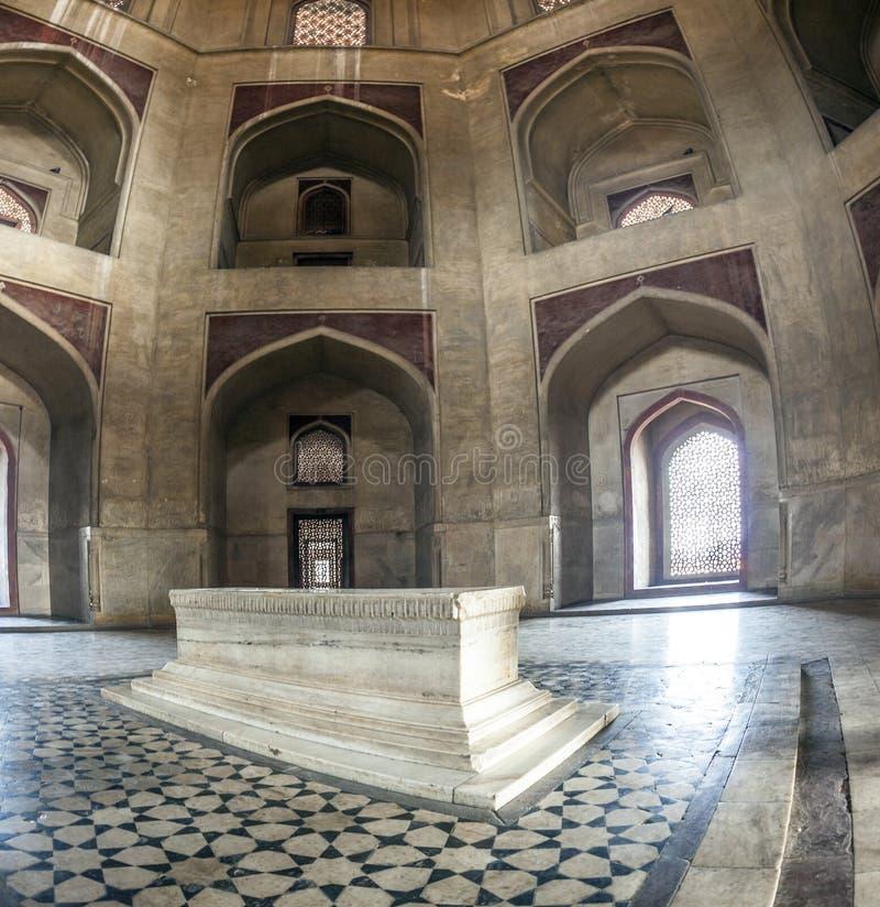 delhi kopuły mauzoleum humayun zrobić powlekane marmurowy magnat czerwony s piaskowe stylu grobowiec zabiła białego fotografia stock