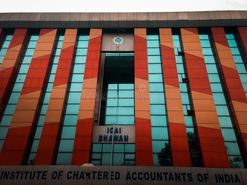 DELHI, la INDIA - 19 de marzo 2019: el instituto de contables de la India, shahdara fotos de archivo libres de regalías
