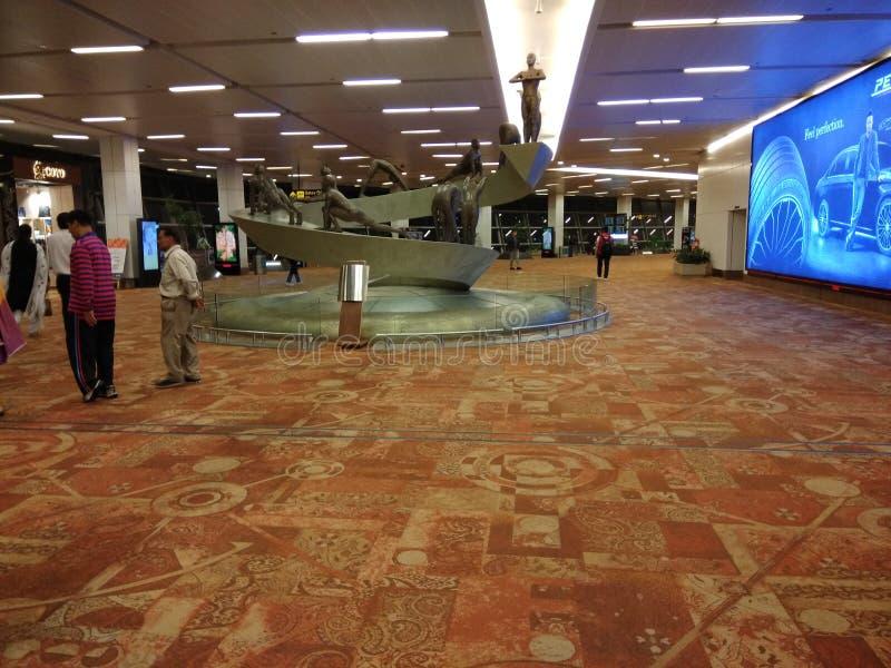 Delhi lotnisko Wśrodku widoku obrazy royalty free