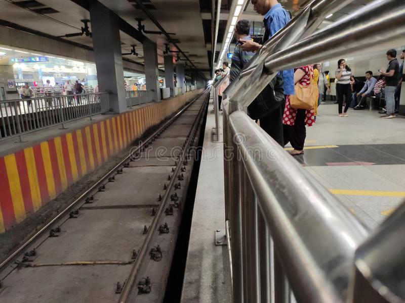 Delhi metro zdjęcia royalty free