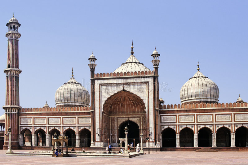 Delhi-Moschee lizenzfreies stockbild