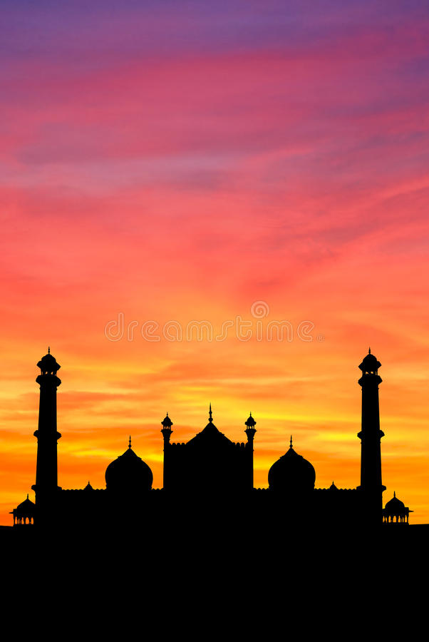 Download Delhi Mosque Sunset Stock Photo - Image: 12684660
