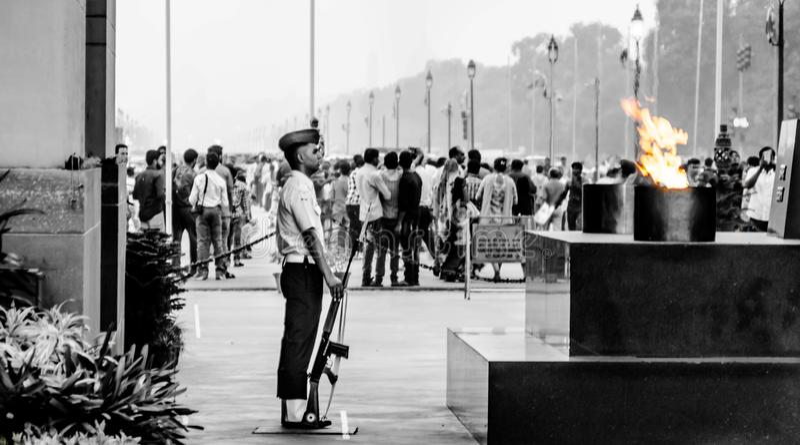delhi port india arkivbilder