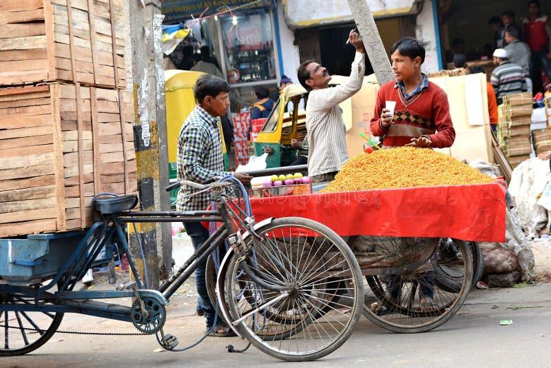 Delhi-Straße lizenzfreie stockfotos