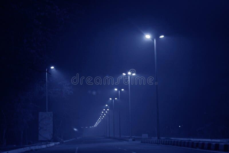 delhi tände nya gator royaltyfria bilder