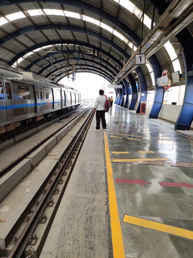 Delhi tunnelbana arkivfoto