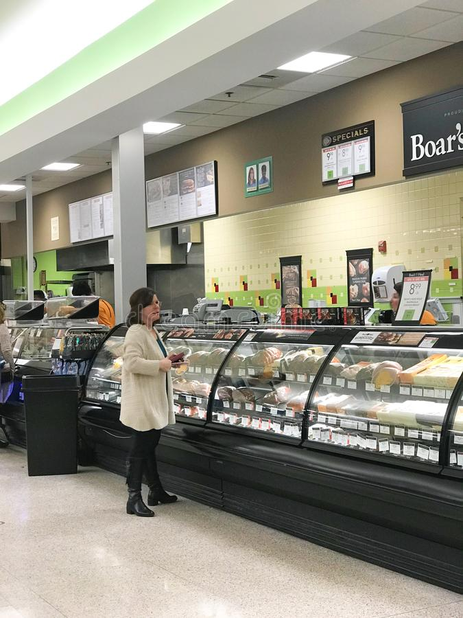 Deli Department at the Publix Grocery Store.  royalty free stock images