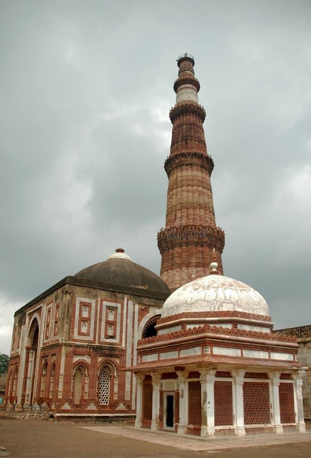 Deli Qutab Sightseeing Minar foto de stock royalty free