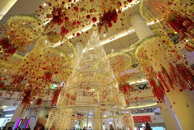 Deliassage Bukit Bintang Kuala Lumpur Malaysia de Noël image libre de droits