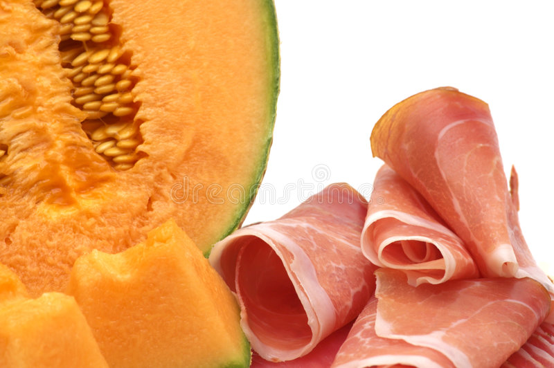 Download Delicacy -melon and meat stock photo. Image of dinner - 3730030