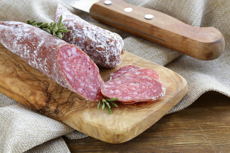 Download Delicacy Smoked Sausage (pepperoni) Stock Photo - Image: 34400742