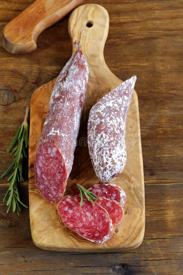 Download Delicacy Smoked Sausage (pepperoni) Stock Image - Image: 34400833