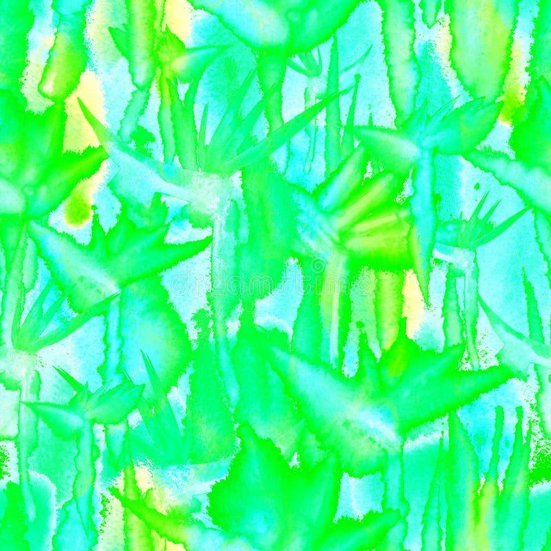 Delicado pastel da flor infinita sem emenda tropical da repeti??o da tintura do la?o da aquarela da c?pia do teste padr?o da selv imagem de stock royalty free