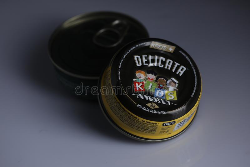 Delicata pâté för ungar royaltyfria foton
