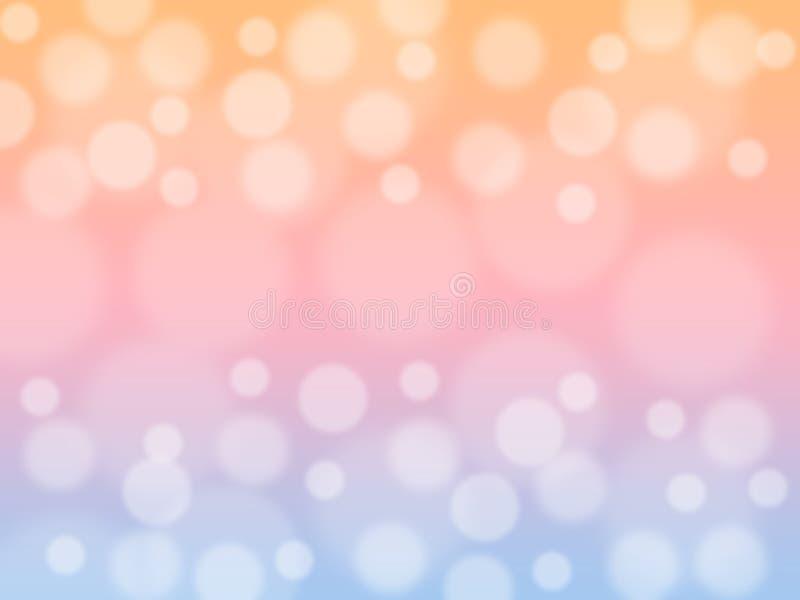 Delicatamente il dolce ha offuscato il fondo di colore pastello con bokeh Carta da parati astratta del desktop di pendenza illustrazione vettoriale