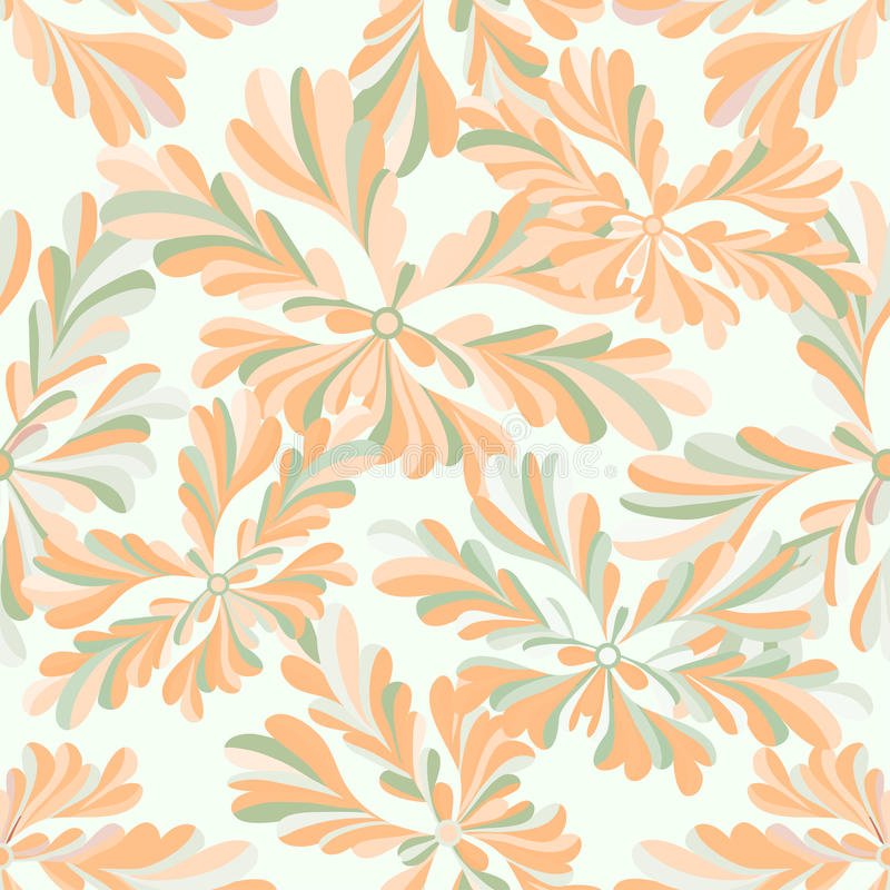 Delicate abstract flowers seamless pattern on a white background vector illustration