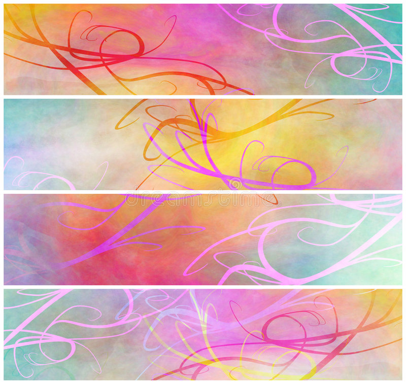 Download Delicate Abstract Grunge Headers Stock Illustration - Illustration of decorative, tempera: 9278308