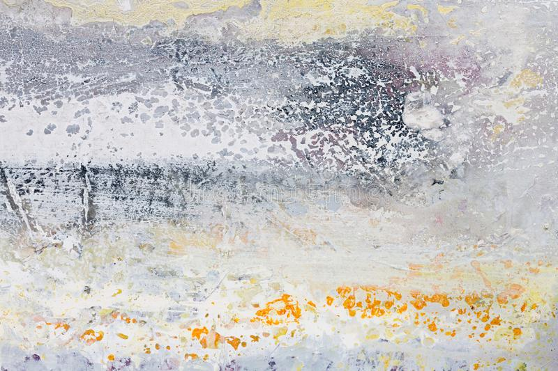 Delicate abstract painting for your new interior. Can be used as background in art projects. stock photo