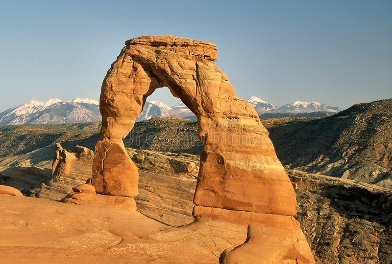 Download Delicate Arch stock image. Image of scene, monument, rocks - 20717
