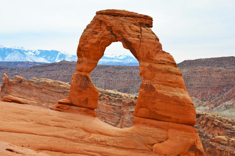 Delicate Arch front stock photo