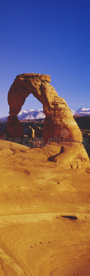 Download Delicate Arch & La Sal Mountains, Stock Image - Image: 23174101
