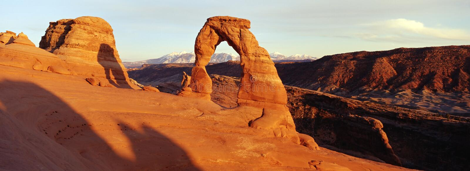 Delicate Arch Panorama stock images
