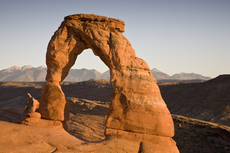 Download Delicate arch at sunset stock photo. Image of landscape - 4002474