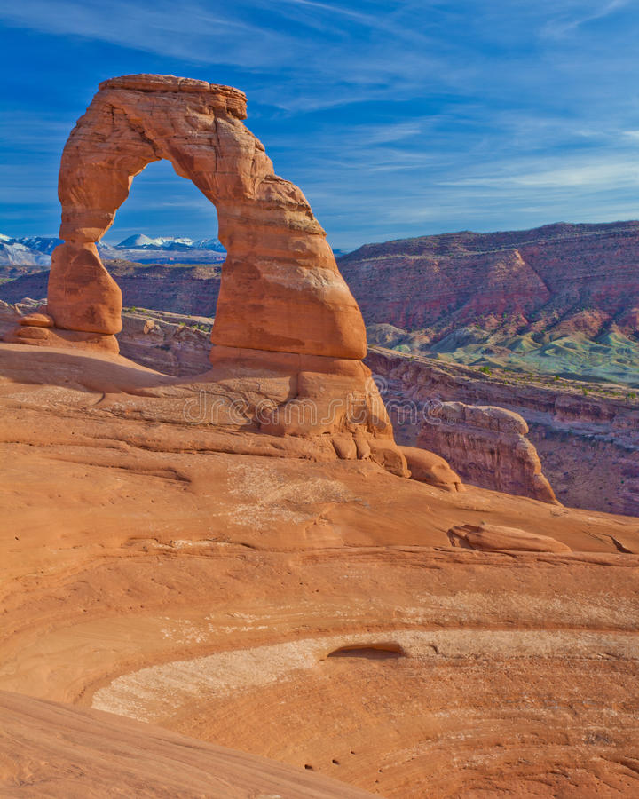 Delicate Arch at Sunset stock images
