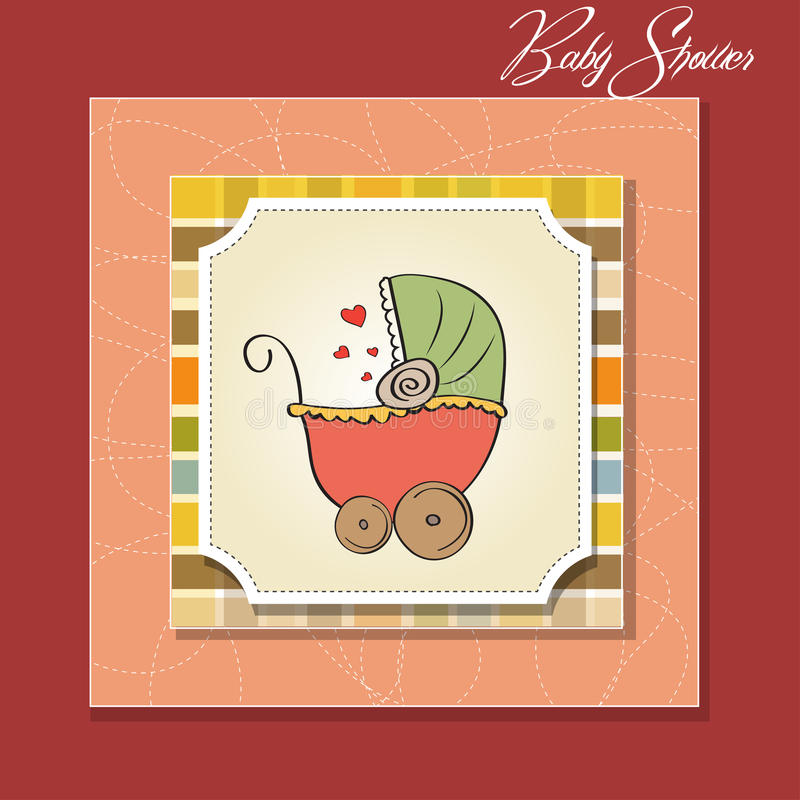 Delicate baby shower card royalty free illustration