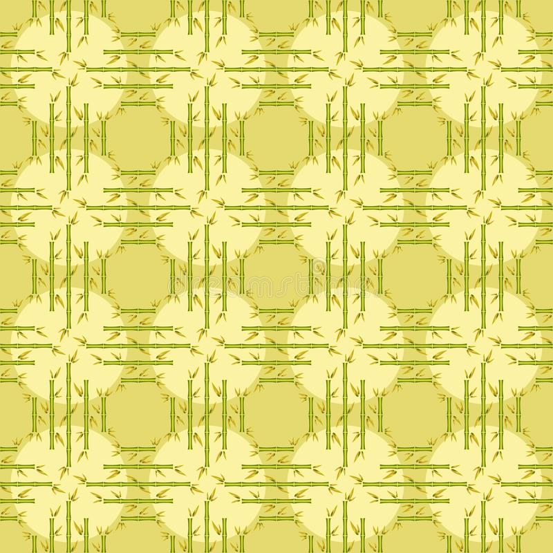 Delicate bamboo seamless pattern vector illustration