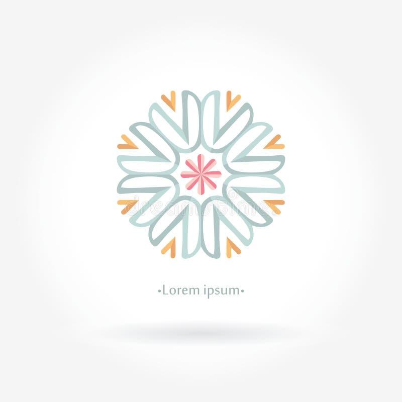 Delicate beautiful circular logos for boutique, interior. Vintage. Linear logotype. vector illustration