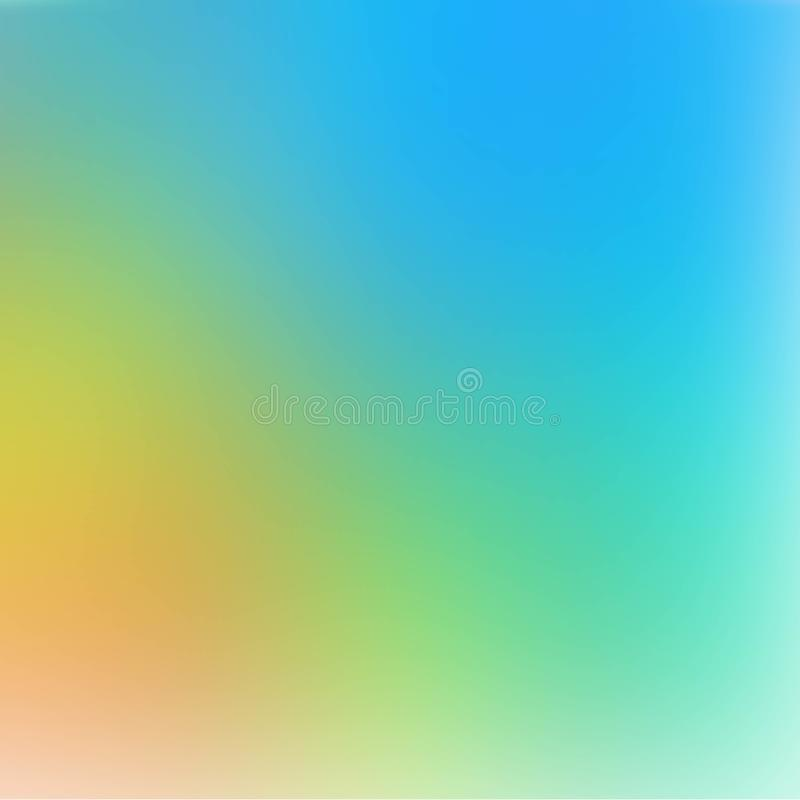 Delicate blue defocus illustration. Abstract sky plain background. Clear fresh air. Blur simple pattern. eps 10 vector illustration