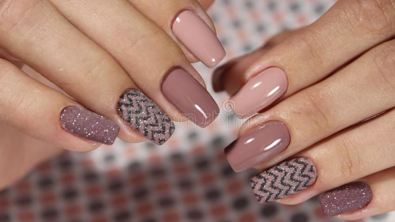 Manicure design French royalty free stock photo