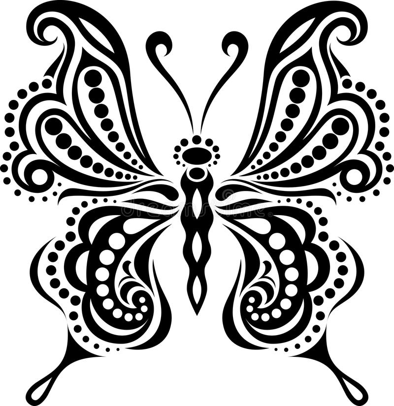 delicate butterfly silhouette drawing of lines and points