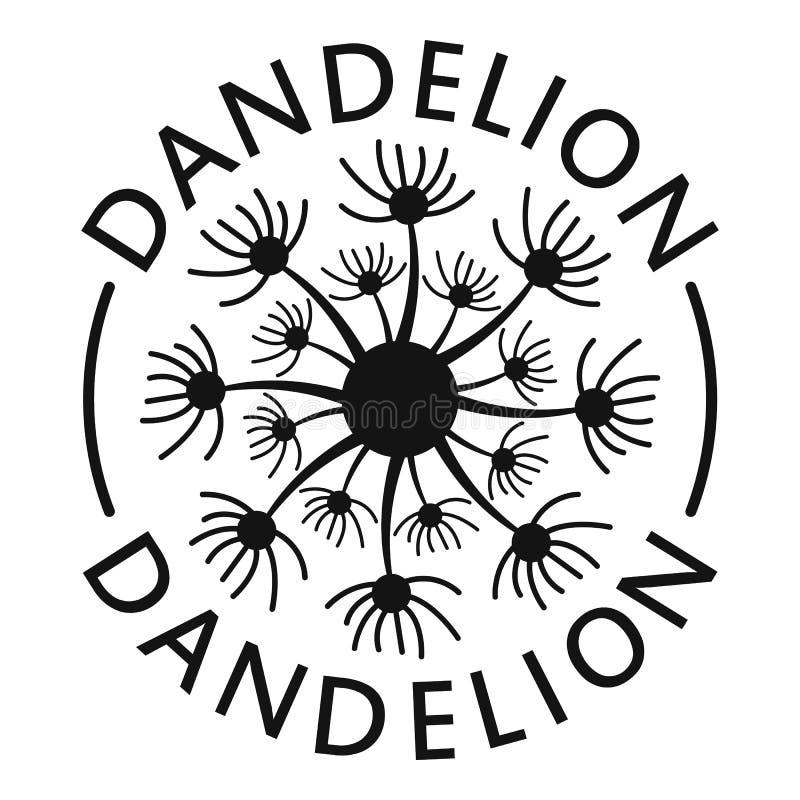 Delicate dandelion logo icon, simple style. royalty free illustration