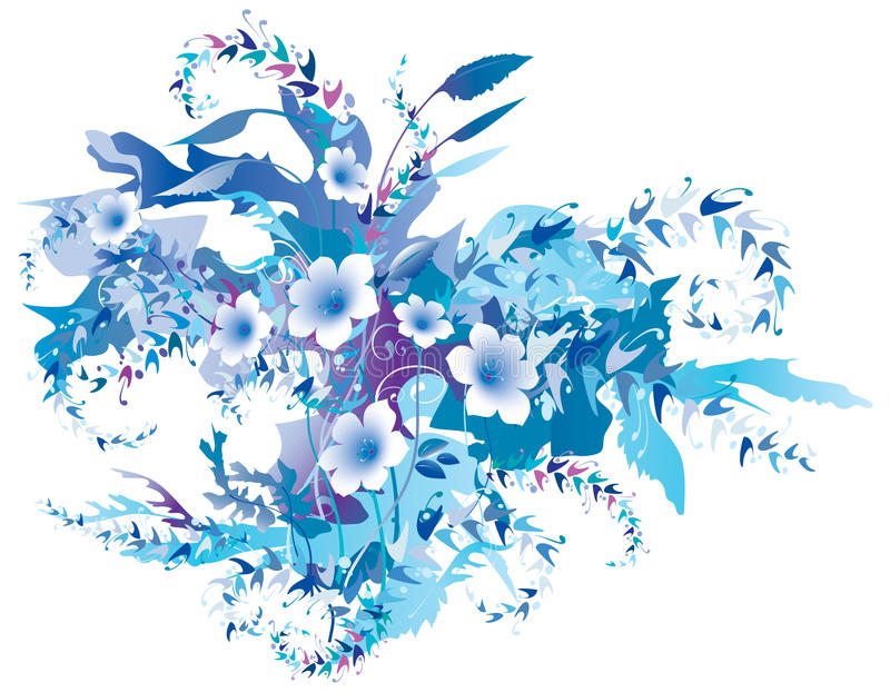 Download Delicate Floral Frozen stock vector. Image of light, leaf - 17881615