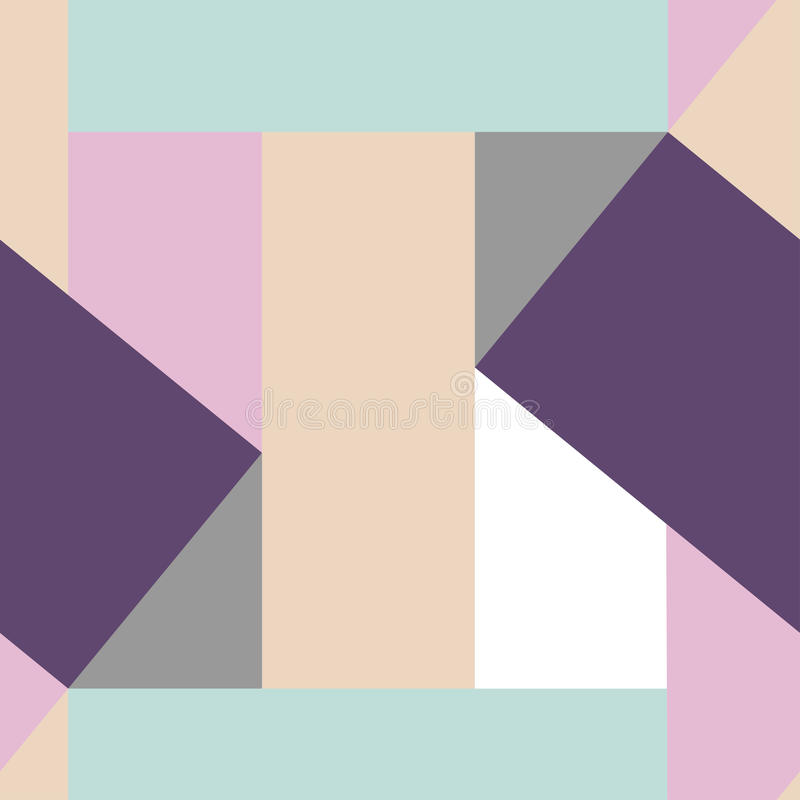 Delicate geometric seamless pattern. Soft color composition vector illustration