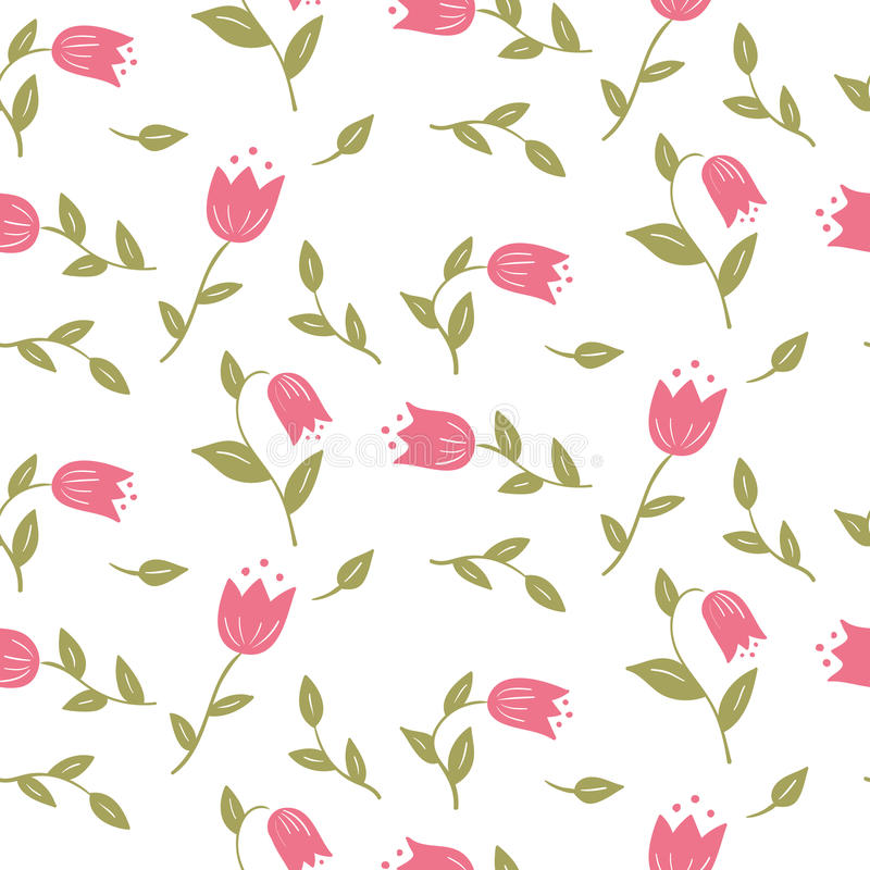 Delicate graphic print Small floral pattern royalty free illustration