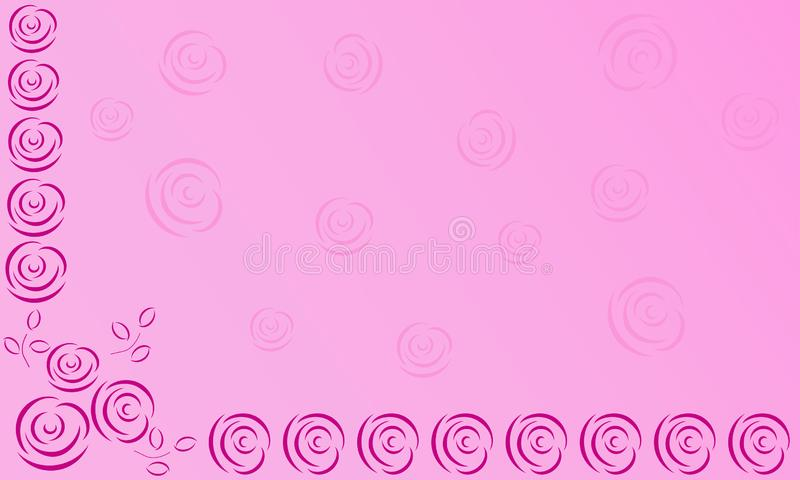Delicate pink vector background with abstract roses royalty free illustration