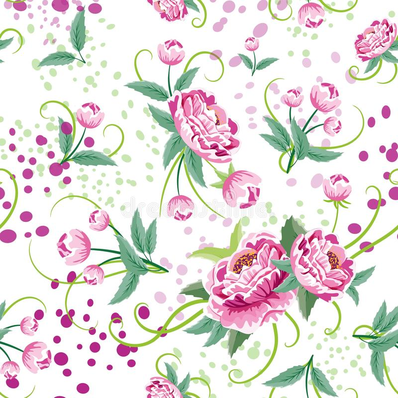Seamless Floral Pattern in vector royalty free stock photo