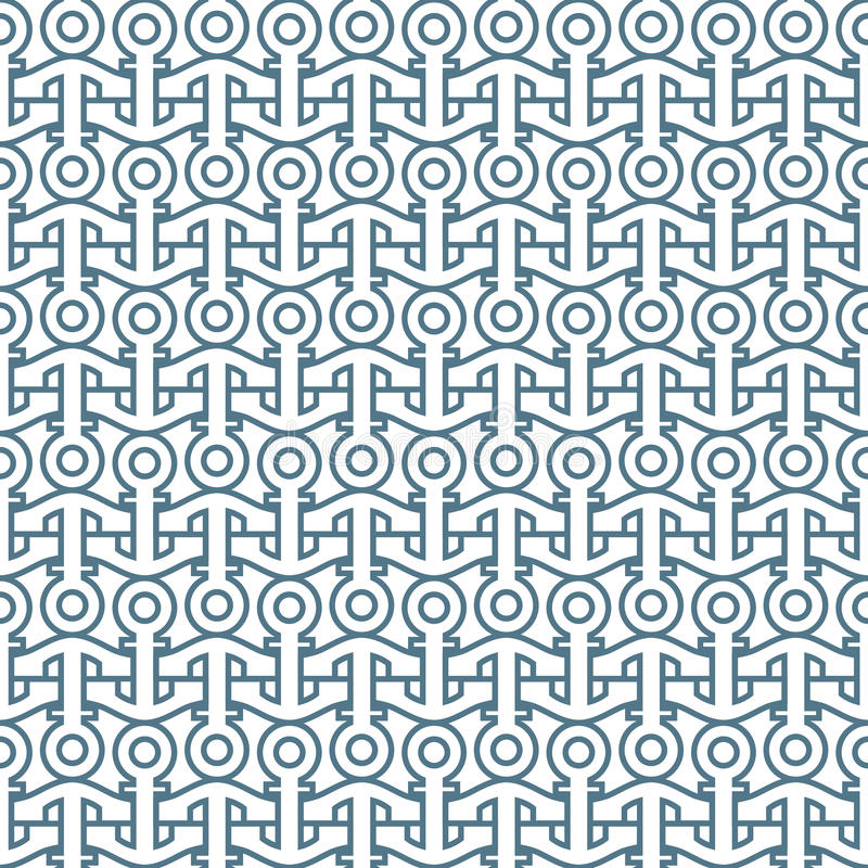 Delicate seamless pattern with anchors royalty free illustration