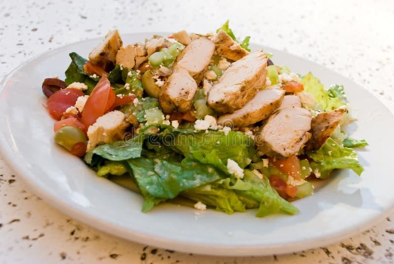 Delicatessen caesar salad with smoked turkey stock photography